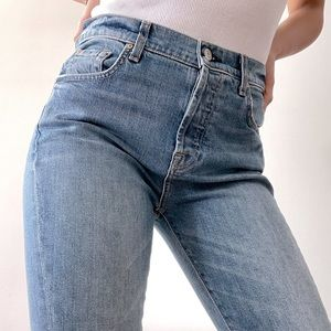 7 For All Mankind Skinny High-Waisted Jeans